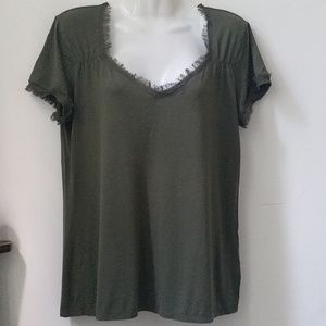 Anne Klein Tops - Anne Klein Knit Top Green Size M Short Sleeve